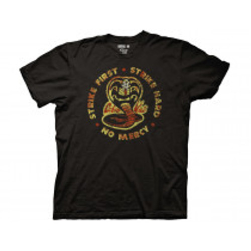 Karate Kid-Bloody Cobra Kai Crew 100% Cotton High Quality Pre Shrunk Machine Washable T Shirt