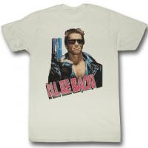 Terminator-I'll be back 100% Cotton High Quality Pre Shrunk Machine Washable T Shirt