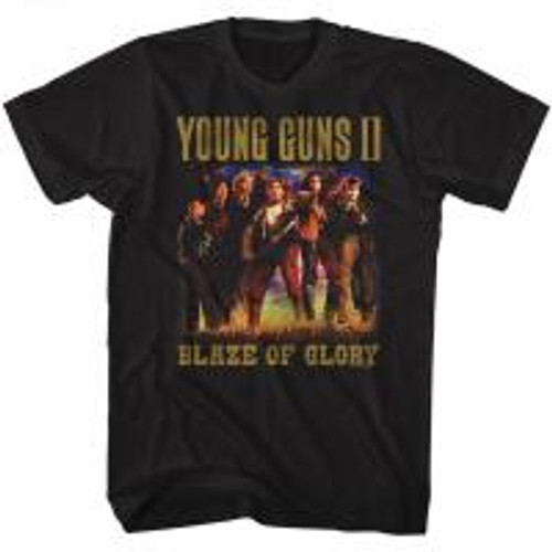 Young Guns-Blaze of glory 100% Cotton High Quality Pre Shrunk Machine Washable T Shirt