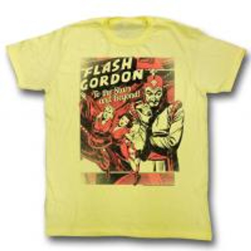 Flash Gordon-To the stars 100% Cotton High Quality Pre Shrunk Machine Washable T Shirt