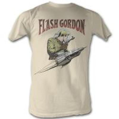 Flash Gordon-Flash rocket gray 100% Cotton High Quality Pre Shrunk Machine Washable T Shirt