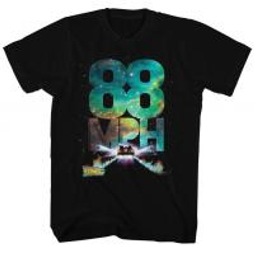 Back to the future-galactic speed 100% Cotton High Quality Pre Shrunk Machine Washable T Shirt