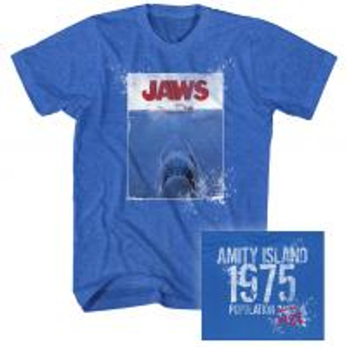 Jaws 1975 100% Cotton High Quality Pre Shrunk Machine Washable T Shirt