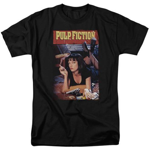 Pulp Fiction - Poster 100% Cotton High Quality Pre Shrunk Machine Washable T Shirt