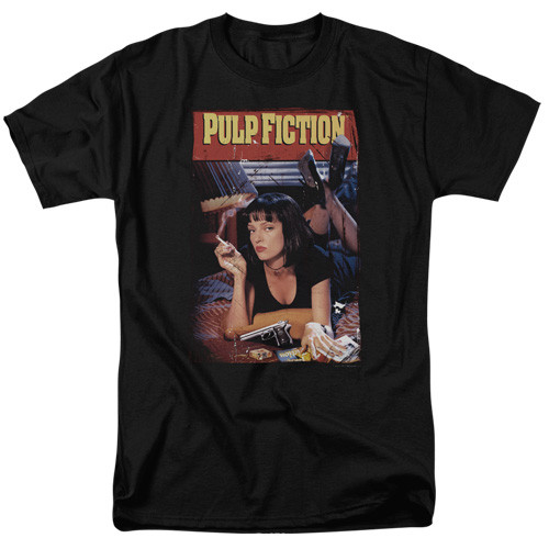 Pulp Fiction - Poster 100% Cotton High Quality Pre Shrunk Machine Washable T Shirt