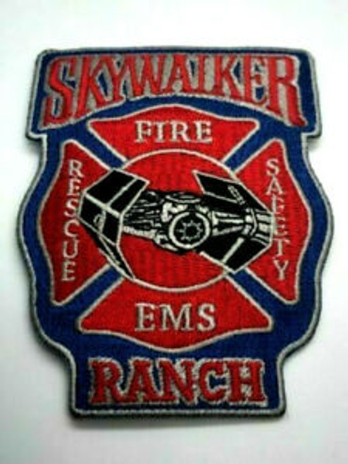 Star Wars Skywalker ranch fire ems embroidered patch sew on or iron on