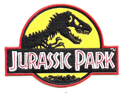 Jurassic park logo Embroidered sewing iron-on patches or sew on patches