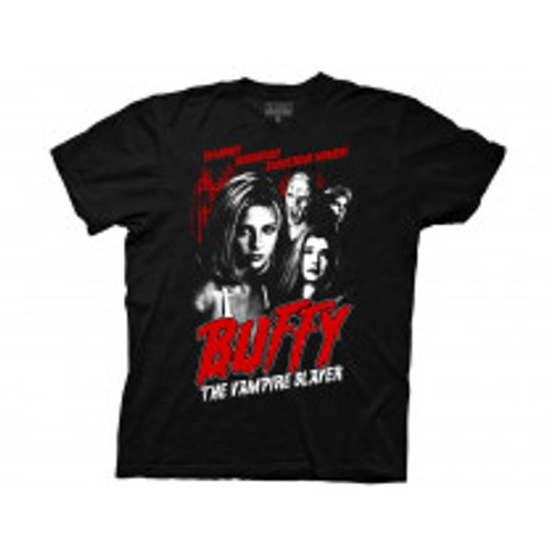 Buffy the vampire slayer-Demons darkness dangerous crew 100% Cotton High Quality Pre Shrunk Machine Washable T Shirt
