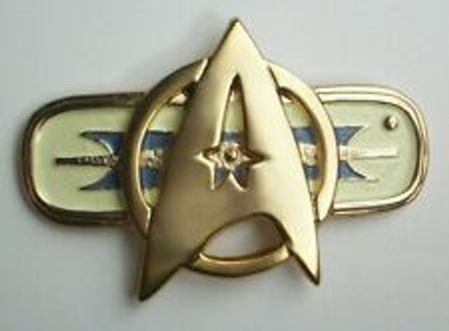 star trek movie 2-6 large metal communicator pin Replica pin similar to those worn on red jackets by starfleet officers