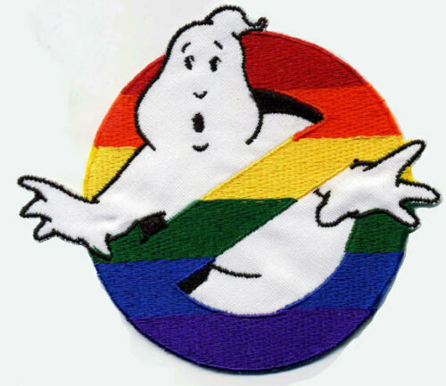 Ghostbusters motion picture rainbow warrior logo  Embroidered sewing on or iron on patch