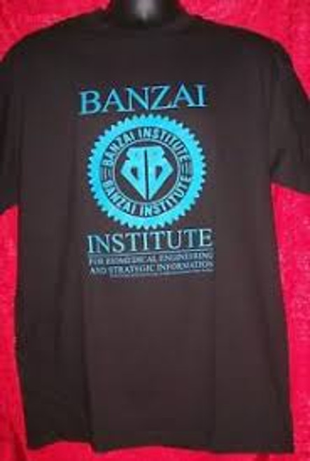 "Buckaroo Banzai ""Banzai Institute"" Logo Mens T-Shirt, Available Sm to xxL 100% Cotton High Quality Pre Shrunk Machine Washable T Shirt"