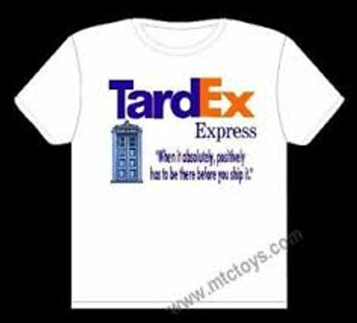 Doctor Who Tardex Express Parody Mens Unisex T-Shirt -Available in Sm to xxL 100% Cotton High Quality Pre Shrunk Machine Washable T Shirt