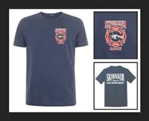 Star Wars-Skywalker Ranch Fire Dept 100% Cotton High Quality Pre Shrunk Machine Washable T Shirt