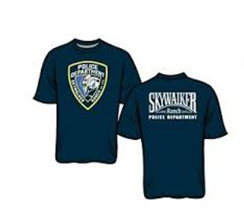Star Wars-Skywalker ranch police dept 100% Cotton High Quality Pre Shrunk Machine Washable T Shirt