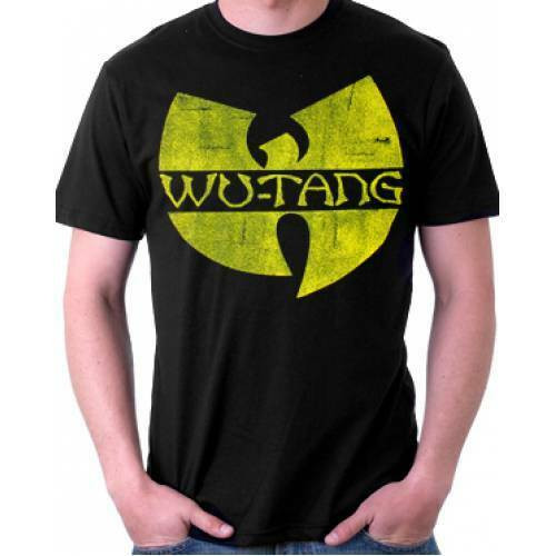 "Wu-tang Clan ""Distressed Logo"" Mens Unisex T-Shirt, Available Sm to 2x 100% Cotton High Quality Pre Shrunk Machine Washable T Shirt"