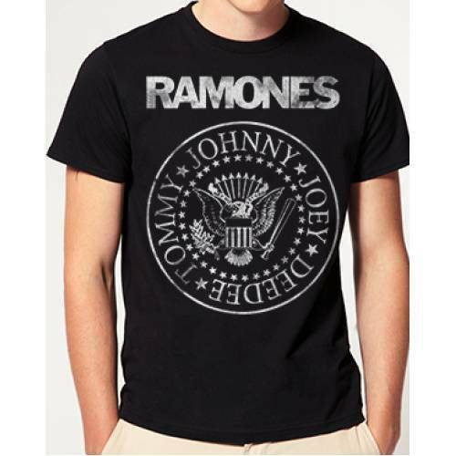 "Ramones ""Distressed Logo"" Mens Unisex T-Shirt, Available Sm to 2xxl 100% Cotton High Quality Pre Shrunk Machine Washable T Shirt"