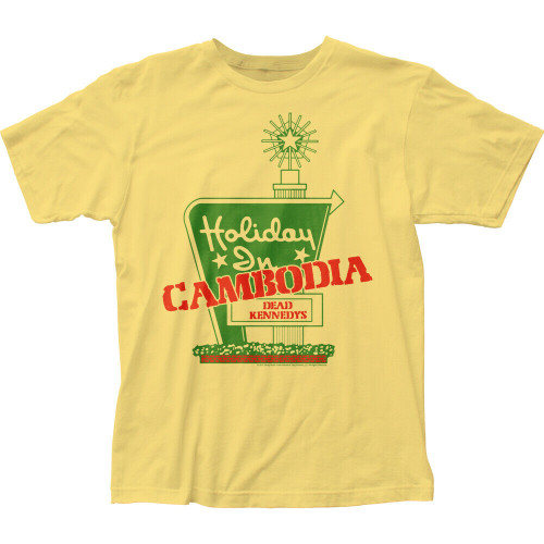 "DEAD KENNEDYS ""HOLIDAY IN CAMBODIA"" Mens Unisex T-Shirt - Available in Sm to 2x 100% Cotton High Quality Pre Shrunk Machine Washable T Shirt"