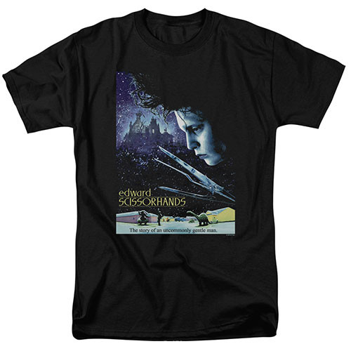 Edward Scissorhands Movie Poster Adult Unisex T-Shirt Available Sm to 2x 100% Cotton High Quality Pre Shrunk Machine Washable T Shirt