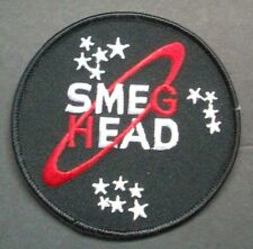 Red Dwarf Smeg Head Embroidered Patch - iron on or sew on