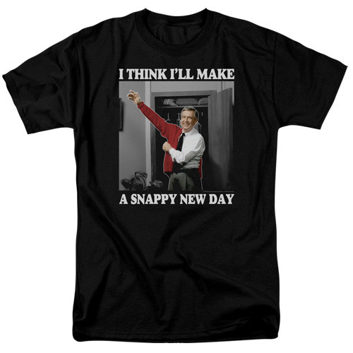 Mister Rogers-A snappy new day 100% Cotton High Quality Pre Shrunk Machine Washable T Shirt