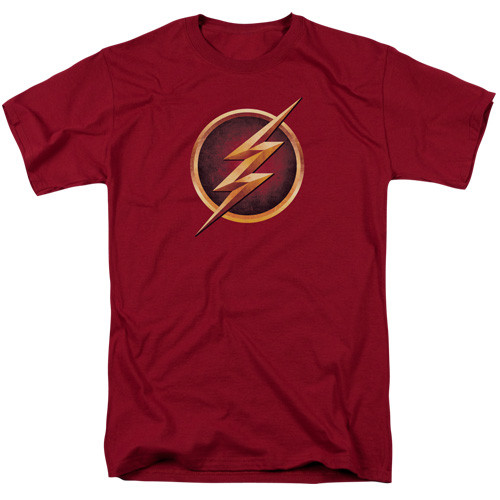 The Flash-Chest logo   The Flash tv series show 100% Cotton High Quality Pre Shrunk Machine Washable T Shirt