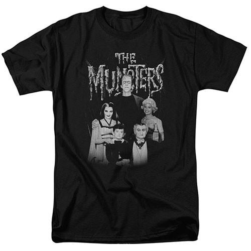 The Munsters-Family Portrait 100% Cotton High Quality Pre Shrunk Machine Washable T Shirt