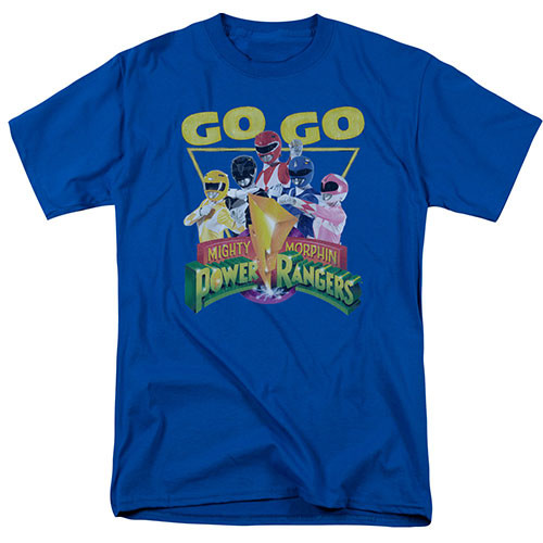 Mighty Morphin Power Rangers-GoGo 100% Cotton High Quality Pre Shrunk Machine Washable T Shirt