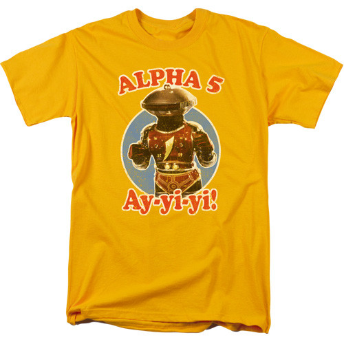 Mighty Morphin Power Rangers-Alpha 5 100% Cotton High Quality Pre Shrunk Machine Washable T Shirt