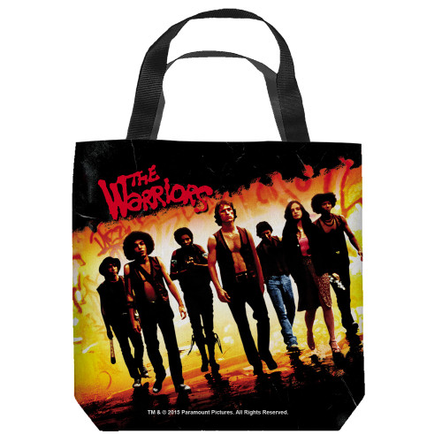 "16 inches by 16 inches,  Warriors-Walk"" Tote Bag.  This highly collectible bag is made of a spun polyester, and has the look and feel of a ""Light Weight Cotton Canvas Bag"".  Includes 2 black handles and is printed on both sides with same image shown."