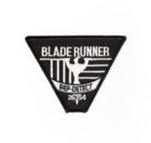 Blade Runner movie rep detect logo embroidered patch This is the patch seen on the replicant detectives in the hit movie Bladerunner. This mint, embroidered patch measures 3″ x 4″ across.