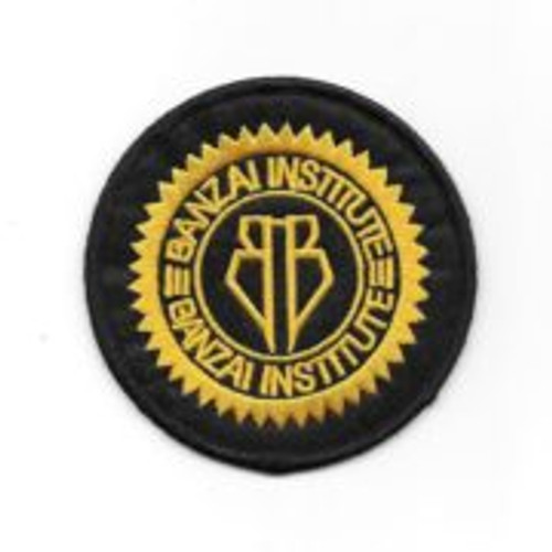 Buckaroo Banzai movie Banzai Institute embroidered patch This mint, embroidered 3″ wide patch is the logo of Buckeroo's Banzai Institute in the cult science fiction movie, Buckaroo Banzai.