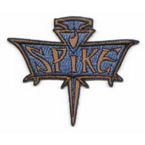 Buffy the vampire slayer spike logo embroidered patch This licensed mint patch features the official logo of Spike from the hit cult tv show, Buffy, The Vampire Slayer. It is an embroidered patch which measures 3.25″ across