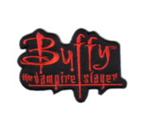 Buffy the vampire slayer tv series name logo embroidered patch This mint patch features the logo from the hit cult TV show, Buffy, The Vampire Slayer. It is an embroidered patch, now out of production, which measures 3.25″ across.