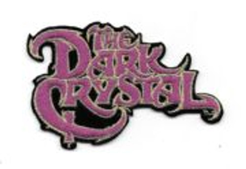 "Dark Crystal movie name 4"" embroidered patch This is the logo of the cult Jim Henson movie The Dark Crystal. This is a mint patch, measuring over 4″ across, that is now out of print and sold out from the company that made them."