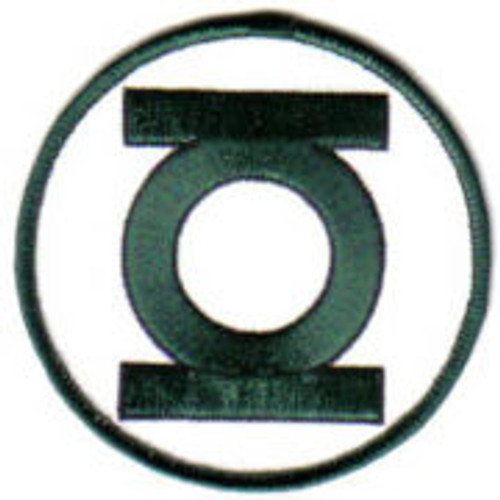 DC comics classic green lantern logo embroidered patch This mint, 3 1/2″ wide embroidered patch features the lantern logo of DC Comics Green Lantern super hero