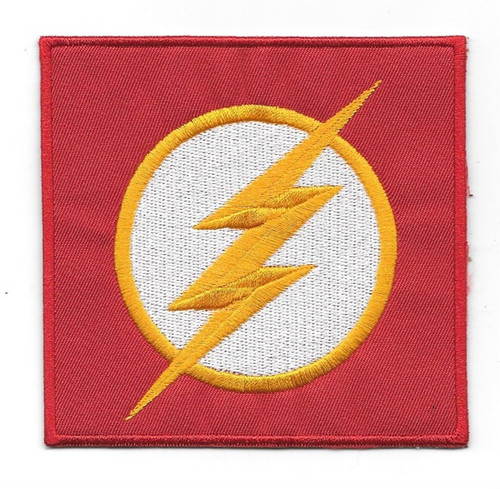 DC Comics the flash tv series chest logo embroidered patch This mint, 4″ x 4″ embroidered patch features the chest logo of Dc Comics The Flash as seen on the hit TV series. Produced for the comic book marketplace, this is a difficult patch to find outside of comic book conventions and stores.