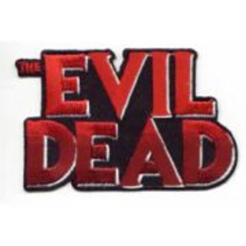 "This 3 1/2″ wide mint, embroidered patch features the logo of the hit movie ""The Evil Dead."""
