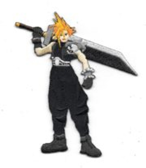 Final Fanasty VII video game cloud strife figure embroidered patch  This is a 3″ x 4.25″ high new and unused embroidered patch that reproduces the die-cut figure of Cloud Strife, the main protagonist from the popular Final Fantasy VII game Series. It has a glue backing for easy application to a cloth surface.