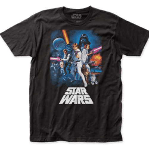 Star Wars - New Hope Poster 100% Cotton High Quality Pre Shrunk Machine Washable T Shirt