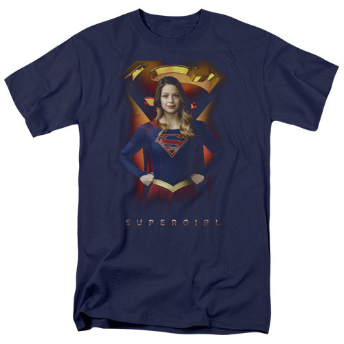 Supergirl (tv series)-Standing symbol 100% Cotton High Quality Pre Shrunk Machine Washable T Shirt