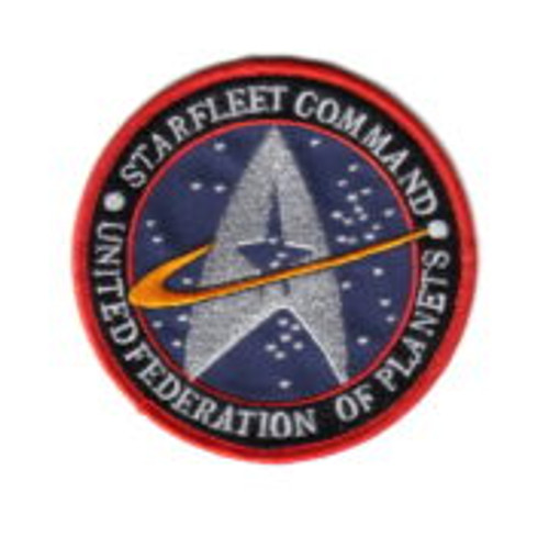 Star Trek The Original Series Starfleet Command Logo Embroidered Patch Blue Version This 4″ diameter mint embroidered patch produced by Lincoln Enterprises, pictures the logo of Starfleet Command, of the United Federation of Planets, as seen on the classic Star Trek original series. This is the blue version.