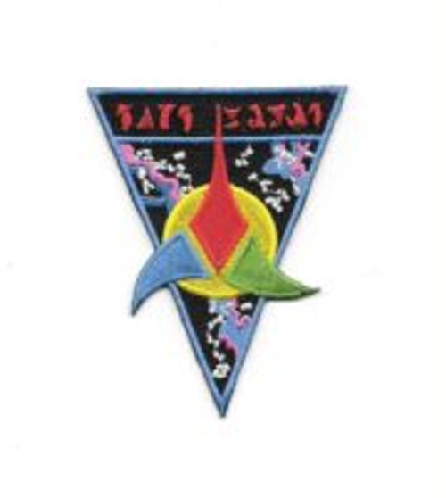 Star Trek Classic TV Klingon Empire Trifoil Logo Embroidered Patch This mint 3.5″ X 2.75″ patch pictures the logo of the Klingon Empire as seen on Star Trek, the original TV series. Produced in the early 1990's, it has long been out of production.