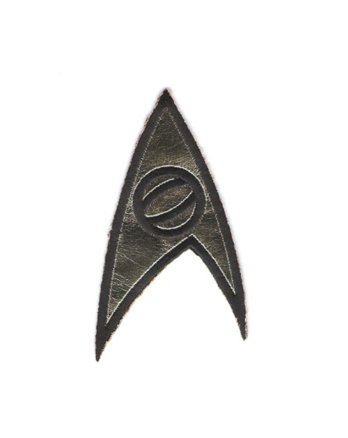 Star Trek Classic TV Series Science Logo Embroidered Chest Patch This mint patch pictures the science chevron as seen on the episodes of classic Star Trek. It was worn on the left breast of the shirts, as worn by Dr. McCoy and Mr. Spock. It measures 3 1/2″ high. Originally made by Majal Barrett Roddenberry's company, these have always been difficult to find outside of Star Trek conventions, and have been totally unavailable for many years