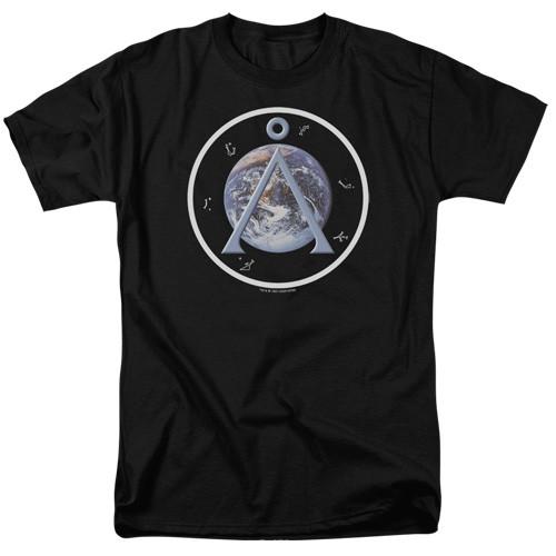 Stargate SG1-Earth Emblem 100% cotton high quality pre shrunk machine washable t-shirt