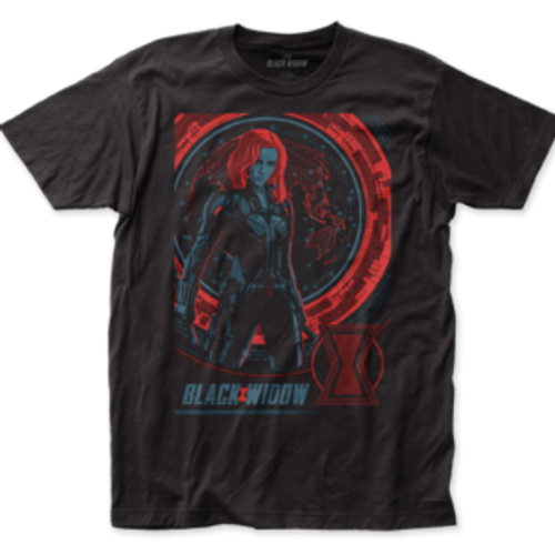Black Widow-Global Poster 100% Cotton High Quality Pre Shrunk Machine Washable T Shirt