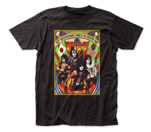 KISS 40th Anniversary Tour of the Rising Sun Mens T-Shirt -Available sm to xxL 100% cotton high quality pre shrunk machine washable t-shirt