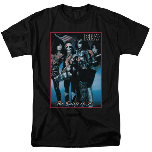 "KISS ""The Spirit of 76"" Mens Unisex T-Shirt -Available in Sm to 2x 100% cotton high quality pre shrunk machine washable t-shirt"