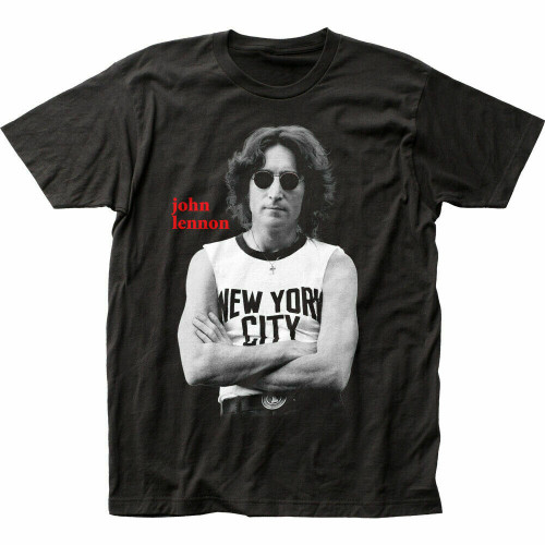 "John Lennon ""New York City"" Mens Unisex T-Shirt -Available Sm to 2x 100% cotton high quality pre shrunk machine washable t-shirt"