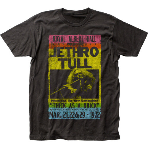 """Jethro Tull, """"Royal ALbert Hall 1972"""" Mens Unisex T-Shirt, Available in Sm to 2x 100% cotton high quality pre shrunk machine washable t-shirt"""