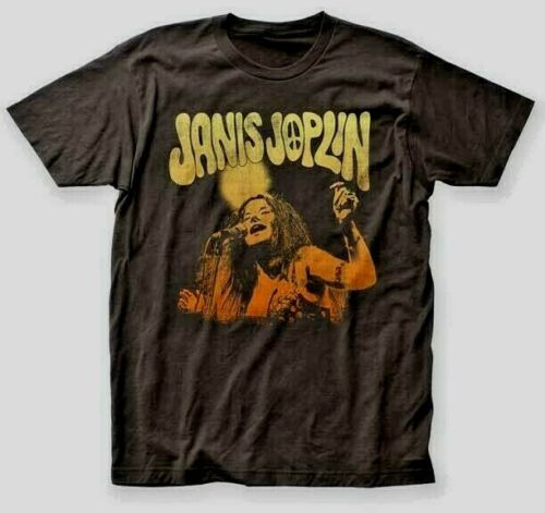 "JANIS JOPLIN"" Live"" Mens Unisex T-Shirt, Available in Sm to 2x 100% cotton high quality pre shrunk machine washable t-shirt"